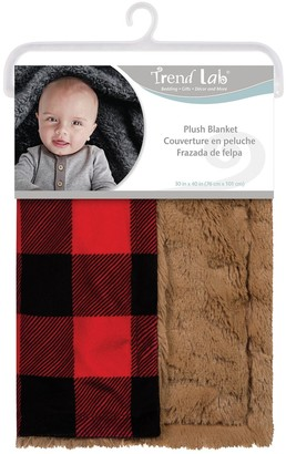 Trend Lab Buffalo Check Plush Baby Blanket