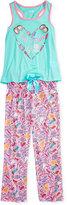 Max & Olivia 2-Pc. Truth or Dare Glam Pajama Set, Big Girls (7-16)