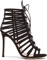 Gianvito Rossi Lace Up Suede Heels