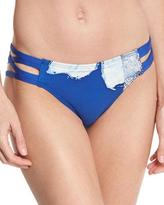 Carmen Marc Valvo Strappy-Side Bikini Bottom, Blue