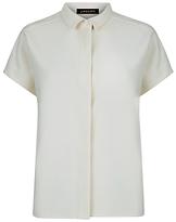 Jaeger Side Seam Detail Shirt, Ivory