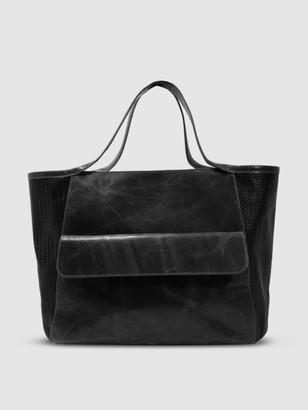 Area Stars Varick Satchel Bag in Black Leather
