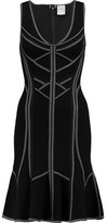 Herve Leger Caitlyn Fluted Bandage Mini Dress