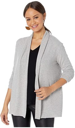 Michael Stars Madison Brushed Jersey Jessenia Open Cardigan (Heather Grey) Women's Clothing