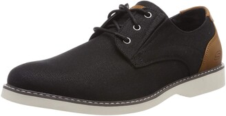 Skechers Men's Parton-WILCON Canvas Oxford BLK 10.5 Medium US