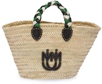 Miu Miu Stitched Logo Tote Bag