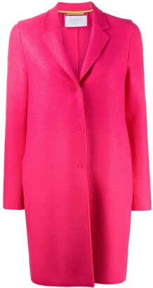 Harris Wharf London Single-Breasted Felt Midi Coat
