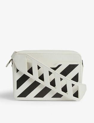 Off-White Diagonal stripe leather cross-body bag