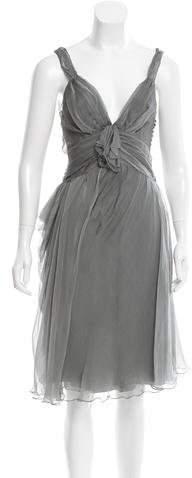 Christian Dior Silk Sleeveless Dress