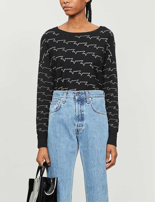 Zadig & Voltaire Anouk geometric-patterned wool-blend jumper