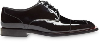 Fendi Karligraphy motif embroidered Oxford shoes