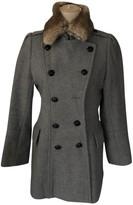 Comptoir des Cotonniers Grey Rabbit Coat for Women