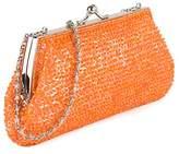 Farfalla Womens 90458 Clutch Orange