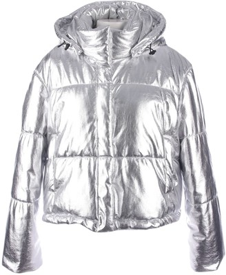 MSGM Silver Coat for Women