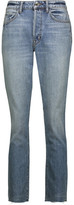 Helmut Lang High-Rise Cropped Faded Straight-Leg Jeans