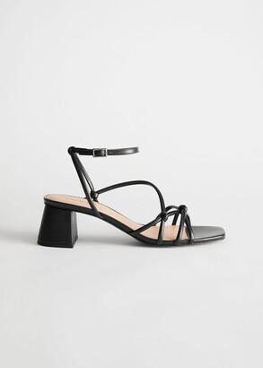 And other stories Strappy Leather Heeled Sandals