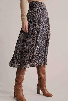 Witchery Floral Bias Cut Skirt