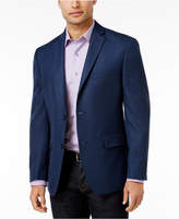 Alfani Men's Slim-Fit Soft Navy Houndstooth Jacket, Created for Macy's