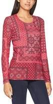 Olsen Women's T-Shirt Long Sleeves Pyjama Bottoms, Rot (Red Cassis 149St)