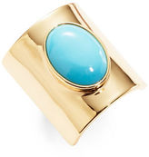 Trina Turk Turquoise Oval Stone Ring
