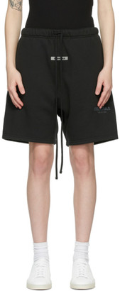Essentials Black Sweat Shorts