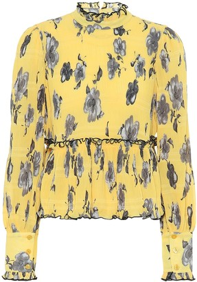 Ganni Exclusive to Mytheresa Floral crepe blouse