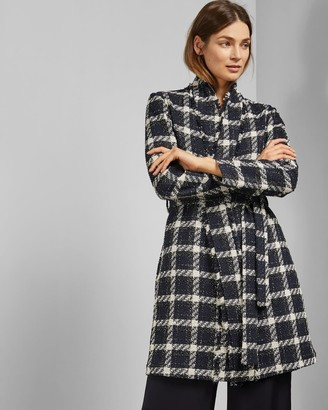 Ted Baker Knee Length Boucle Belted Coat