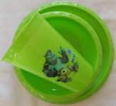 Zak Designs Disney's Pixar Monsters Inc. University Lunch / Dinner Plate & Cup Set