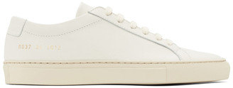 Common Projects Off-White Saffiano Contrast Achilles Low Sneakers