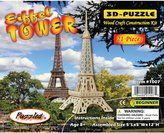Puzzled Eiffel Tower 3-D Wooden Puzzle - History Collection - Affordable Gift For Kids and Adults - Item