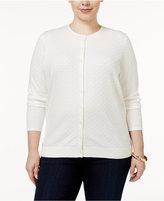 August Silk Plus Size Textured Cardigan