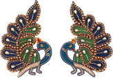Gucci Embroidered peacock earrings