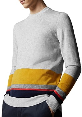Ted Baker Host Color-Block Crewneck Sweater