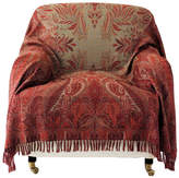 OKA Antique-Style Paisley Wool Throw