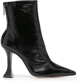 Schutz Sculpted Heel Ankle Boots