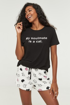 Ardene Cat Tee and Shorts PJ Set