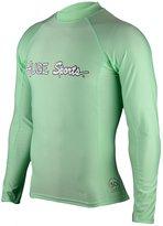 Hugesports Men's Splice UV Sun Protection UPF50+ Crew Neck Skins Rash Guard Long Sleeves