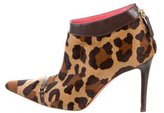 Judith Leiber Ponyhair Pointed-Toe Booties