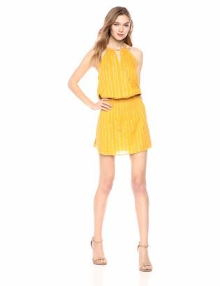 Parker Women's Larissa Sleeveless Drape Front Smocked Mini Dress