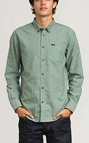 RVCA Men's That'll Do Oxford Long Sleeve Woven Shirt