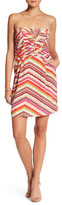 Charlie Jade Print Silk Strapless Sheath Dress