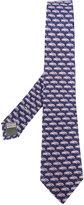 Canali car print tie - men - Silk - One Size