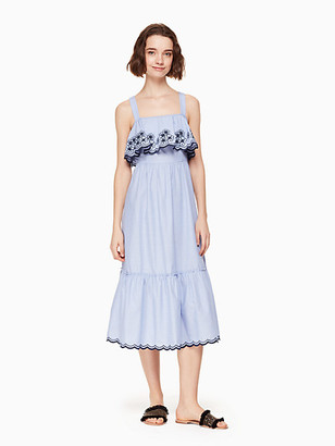 Kate Spade Broome Street Daisy Embroidered Patio Dress