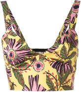 RED Valentino floral cropped vest - women - Cotton/Polyester/Spandex/Elastane/Acetate - 42