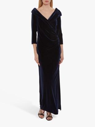 Gina Bacconi Tuva Velvet Maxi Dress