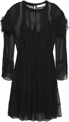 IRO Western Embroidered Georgette Mini Dress
