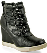 Steve Madden Latches - Leather Wedge Sneaker
