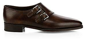 John Lobb Men's Chapel Monk Strap Leather Shoes