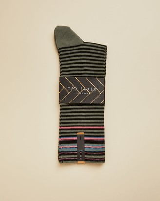 Ted Baker Cotton Striped Sock