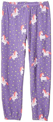 Chaser Unicorn Dream Cozy Knit Lounge Pants (Big Kids) (Electric) Girl's Casual Pants
